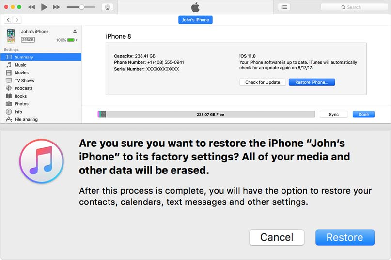 reset iphone 8 to factory settings