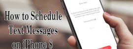 schedule text messages on iphone 8