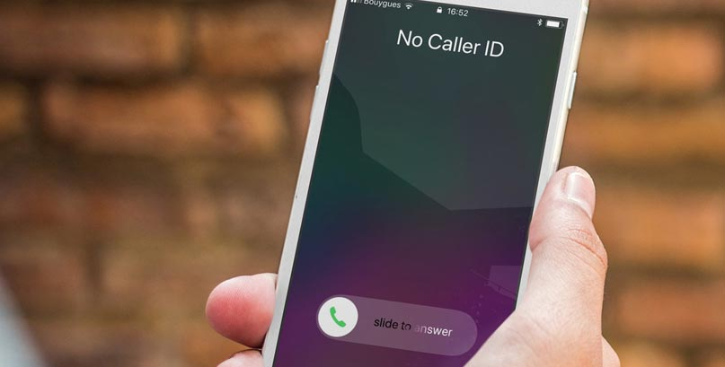 hide caller id on iphone 8