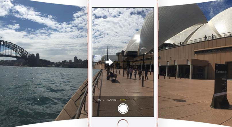 taking panorama pictures using iphone 8