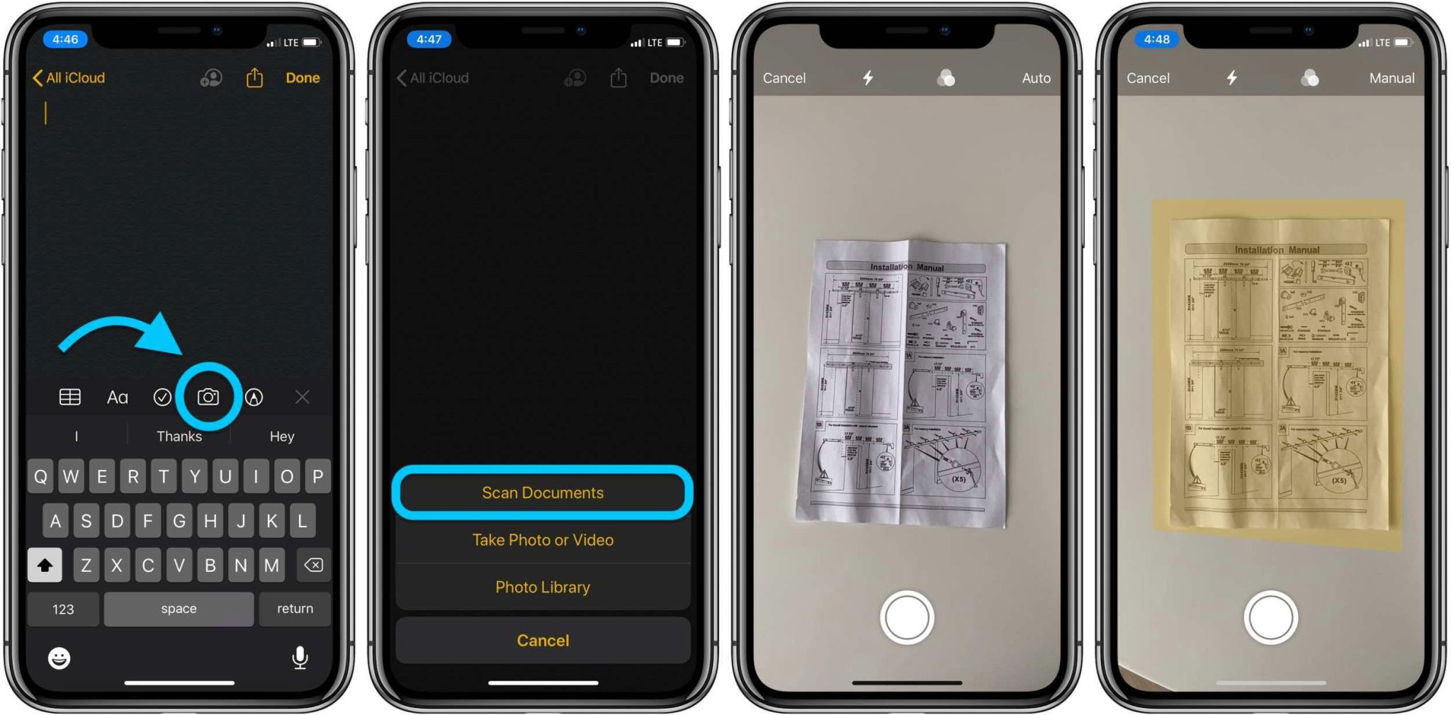 How to scan with iphone