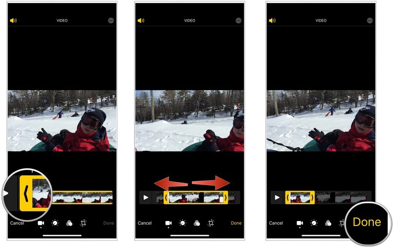 Flipping videos on iphone